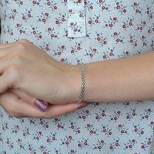 Серебряный родированный браслет Нежность в плетении лав, 4мм